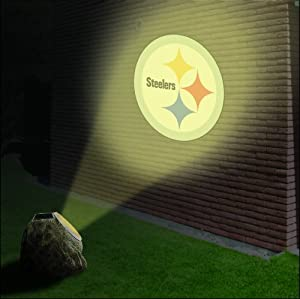 NFL Pittsburgh Steelers Solar-Powered Projection Rock