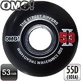 "OMG! ""THE STREET RIPPERS 2"" WHEELS 53mm BLACK スケートボード ( スケボー ) ウィール 4個1セット"