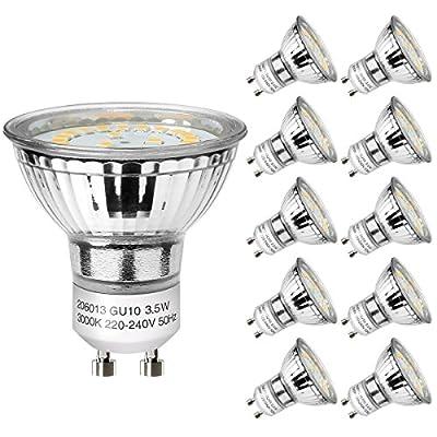 LE GU10 LED Light Bulbs, 50W Halogen Bulbs Equivalent, MR16 4W, 350lm, Daylight White, 5000K, 120¡ã Beam Angle, Recessed Lighting, Track Lighting by Lighting EVER