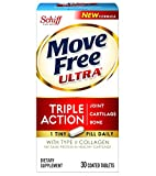 Move Free Ultra Joint Supplement with Collagen and Hyaluronic Acid, 30 Count (Packaging May Vary)