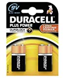 Duracell MN1604 Plus Power 9v Batteries--Pack of 2