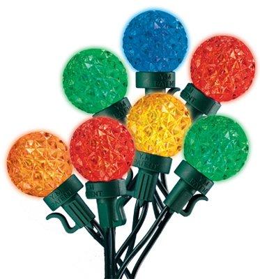 Noma/Inliten-Import V78873-88 Indoor Or Outdoor Christmas Lights Set, 16-Function, Multi-Color Led Globe, - Quantity 12