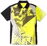 (ミズノ)MIZUNO 卓球ウェア ゲームシャツ[ユニセックス] 82JA6006 44 イエロー×ブラック XS