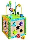 Toy - Eichhorn 100002235 - buntes Holz-Spielcenter, inklusive Motorikschleife und Z�hlrahmen, 20x20x36 cm
