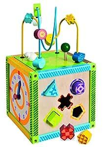 Eichhorn 100002235 - Cubo de juegos en madera (20 x 20 x 36 cm)