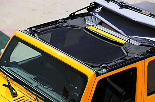 Sunshade for Jeep Wrangler JK 2007~2016 Mesh Bikini Top Cover Provides UV Protection (Screen Door Bar For Camper compare prices)