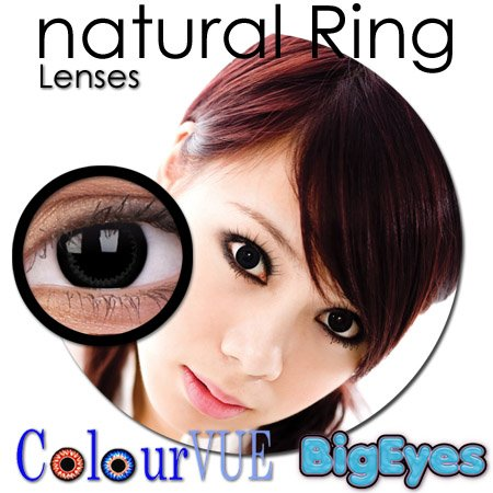 CONTACT LENSES COLOUR VUE BIG EYE NATURAL RING 15MM FASHION ZERO LENSE PRICE INCLUDE 60ML SOLUTION + LENS CASE - 1 PAIR