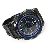 Shot-in Blue Fashion COOL Sports Waterproof Rubber Quartz Men Male Wrist Watch Boy