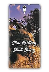 YuBingo Stop Existing. Start Living Designer Mobile Case Back Cover for Sony Xperia C5 Ultra