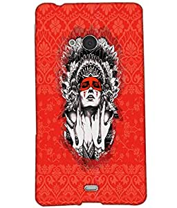 Fuson Pattern Girl Back Case Cover for NOKIA MICROSOFT LUMIA N540 - D3674