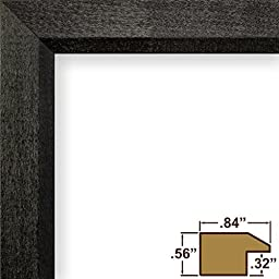 Craig Frames 7171610BK 13x30 Picture Frame, Solid Wood, .825-Inch Wide, Black, .093-Inch Acrylic, Foamcore