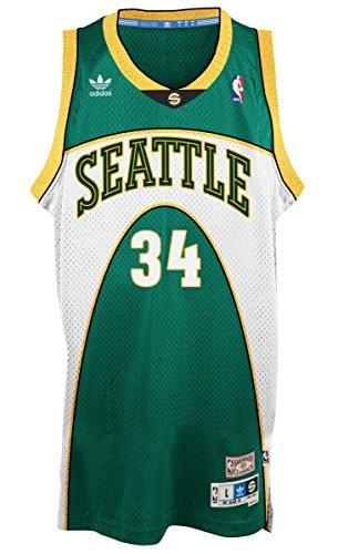 Adidas Men's Seattle Supersonics NBA Ray Allen Soul Swingman Jersey Large