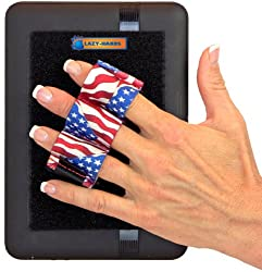 LAZY-HANDS® Heavy-Duty 3-Loop Grip (1 grip) for Readers & Mini Tablets - FITS MOST (Flags)