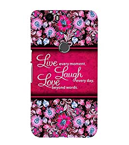 Live Every Moment Cute Fashion 3D Hard Polycarbonate Designer Back Case Cover for Huawei Nexus 6P :: Huawei Google Nexus 6P