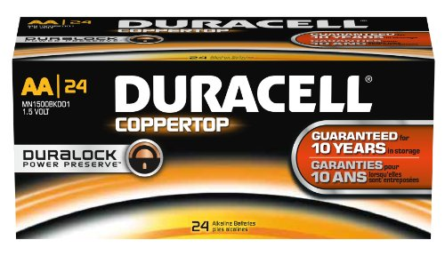 Duracell Alkaline Aa 24 Batteries Coppertop Mn1500