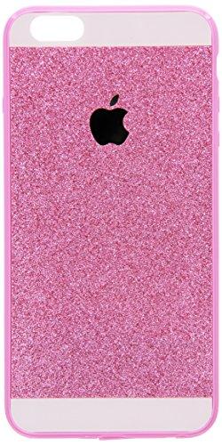 iPhone 6 Plus Case , Luxury Hybrid TPU Hard Shiny Bling Glitter Sparkle With Crystal Rhinestone Cover Case Pink