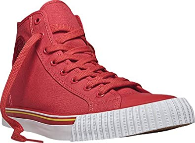 PF Flyers Sneakers Center Hi Reissue PM11CH3G Tomato Red Canvas, Red Canvas, 10 B(M) US Women / 8.5 D(M) US Men