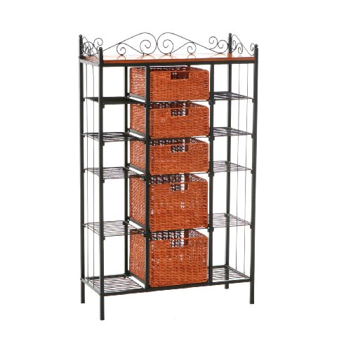 SEI Manilla 5-Drawer Baker's Rack
