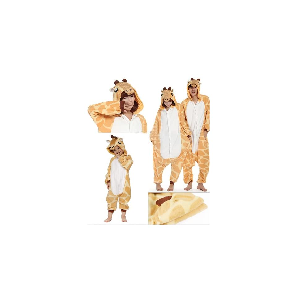 Zicac Costume Giraffe Animal Children and Adult Pajamas Pyjamas Sleepwear Nightclothes Loungewear Cosplay(178 186cm)