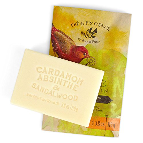 Pre De Provence Cardamom, Absinthe & Sandalwood Private Collection Shea Butter Enriched Soap (110g)
