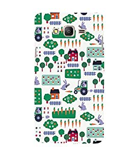 Village Tractor Home Fields 3D Hard Polycarbonate Designer Back Case Cover for Samsung Galaxy On5 :: Samsung Galaxy On 5 G550FY