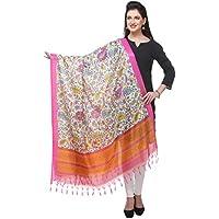 Varanga pink Printed Bhagalpuri Silk Dupatta BG066
