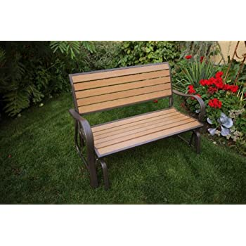 Lifetime 60055 Glider Bench, 4 Feet, Faux Wood