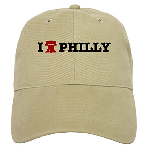 Cafepress I Love Philly Liberty Bell Cap - Standard Khaki