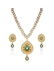 Variation Gold Plated Kundan Fashion Necklace Set For Women