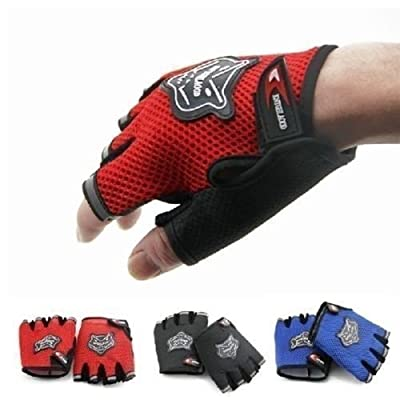 Half Finger Racing Motorcycle Gloves Cycling Bicycle Bike Riding Gloves Outdoor Sports Women/Men's Fingerless/Half finger Cycling Bike Bicycle Shockproof Breathable Mesh Anti-skid Gloves Mitts, Weight Lifting Fitness Anti Slip Gym Exercise Body Building T
