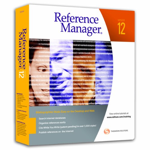 Reference Manager 12 Student for Student Use Only