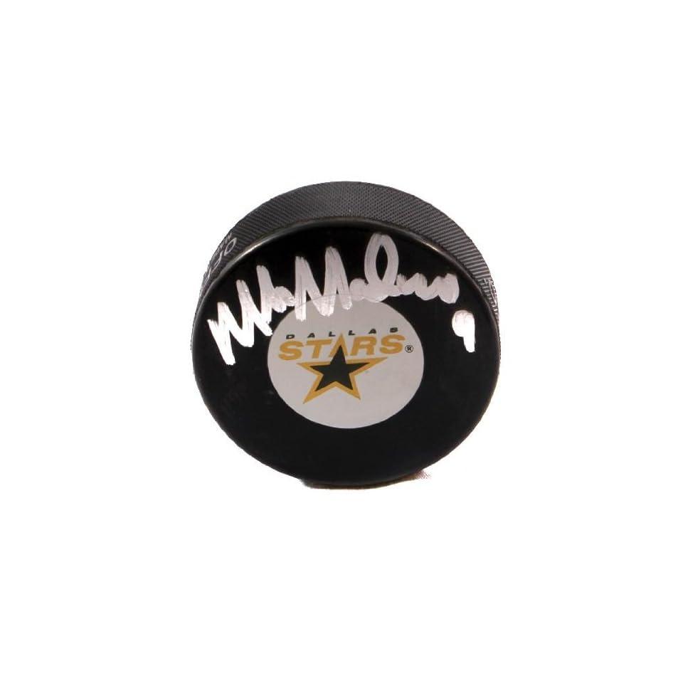 a46dfca18c7 Mike Modano Signed Dallas Stars Logo Puck GAI Autographed NHL Pucks ...