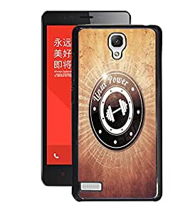 Fuson PVC-2D Metallic Printed Dumble Designer Back Case Cover for Xiaomi Redmi Note-D911