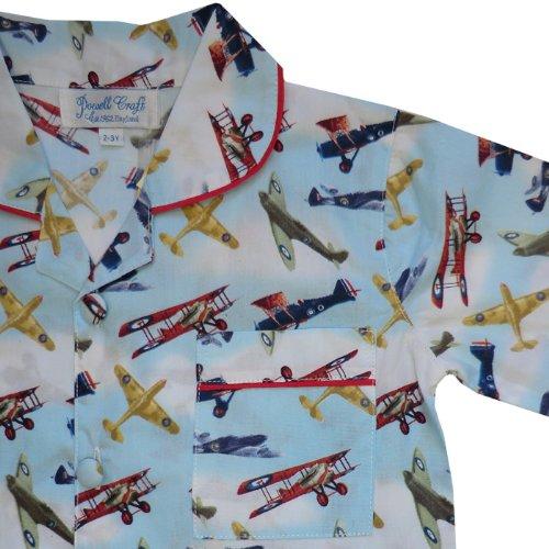 100-cotton-pyjamas-powell-craft-douglas-spitfire-vintage-aeroplanes-1-2-years