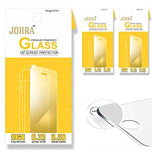 Johra 2.5D 9H HD+ Premium Tempered Glass For LYF Flame 7S Tempered Glass - Pack of 3