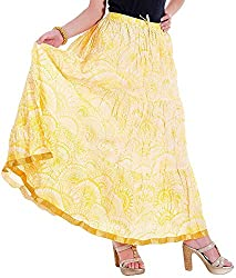 Ceil Women's Cotton Skirt (Yellow)