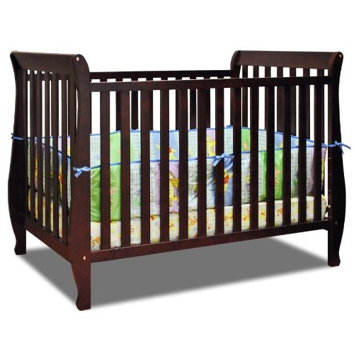 Baby Mile Hannah 4-In-1 Convertible Crib - Cherry front-228673