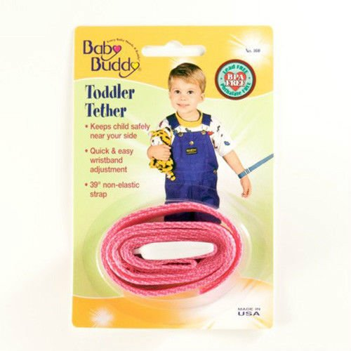 Baby Buddy Toddler Tether / Safety Wrist Leash / Wristband Strap - Pink front-456019