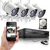 Funlux 4CH Scan QR Code Quick View Network NVR Kit POE 720P HD Night Vision IP CCTV Security Camera