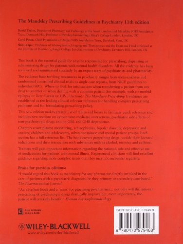 Libro The Maudsley Prescribing Guidelines In Psychiatry Di border=