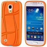 ECENCE Samsung Galaxy S4 mini i9195 custodia protettiva morbida arancione case cover 11020501