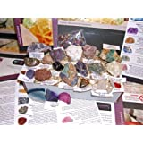 BARGAIN TO CLEAR - LARGE GIFT COLLECTION - Rocks, Crystals, Minerals and Gemstone NEW 24pc Collection Set 5 of 5 - Children or adults gift setby Dinosaurs and Fossils...