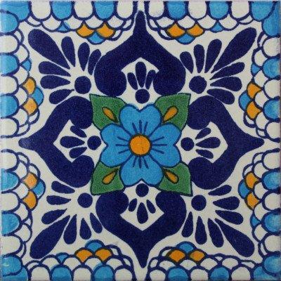 6x6 4 pcs Montijo Talavera Mexican Tile
