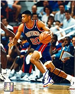 Allan Houston Detroit Pistons Signed 8x10 Photo W COA by Hollywood Collectibles