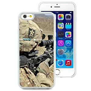 6 Phone cases, Soldiers Automatic War Trench White iPhone 6 4.7 inch TPU cell phone case