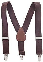 Suspenders for Kids Boys and Baby - Premium 1 Inch Suspender Perfect for Tuxedo - Brown (30\