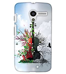 PrintHaat Designer Back Case Cover for Motorola Moto X :: Motorola Moto X (1st Gen) XT1052 XT1058 XT1053 XT1056 XT1060 XT1055 (guitar lover :: guitar player :: Musical design :: Music note design :: Instrumental design :: Melody design :: Music rock design :: love playing on guitar)