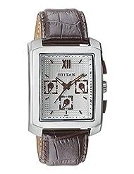 Titan White Dial Chronograph Men's Watch - 1679SL01