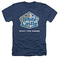 Heather: White Castle Distressed Logo T-Shirt