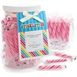 Pink Strawberry Sticklettes - Baby Shower & Birthday Party Candy - 110 ct